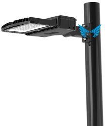 مصباح التوقف LED بقوة 250 واط ومصابيح شارع LED بقدرة 6500K ومصابيح القطب العالي، ومثبت على لوحة زلق للطرق، مقاوم للمياه بقدرة 36250 مترًا عند الغسق إلى منطقة الفجر التجارية الخارجية، ومنطقة الإضاءة على الطريق