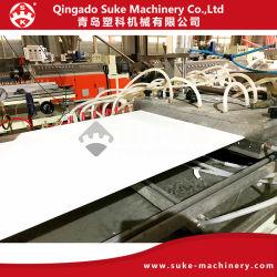 لوحة سقف من مادة PVC من السقف مصنوعة من خشب الخيزران والألياف الخشبية لوح الحائط خط الطرد إنتاج ماكينة بلاستيكية إخراج