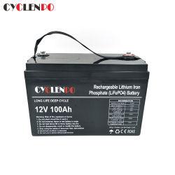 Bateria de alta qualidade Lifep04 12V 24V 100Ah 200Ah para armazenagem de energia e os veículos de potência