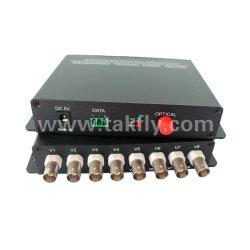 8チャネルの単一のファイバーが付いているビデオデジタル光学コンバーター