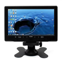 Haute luminosité super voiture de 7 pouces LCD HD avec moniteur VGA+AV+HDMI