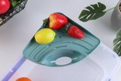 Ventosa Cozinha Banho Canto do dissipador de paletes de plástico esponja sabão / suporte de triângulo dissipador de prateleira de Canto