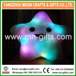 크리스마스 장식적인 가정 소파 당 장식은 선물 견면 벨벳 다채로운 별 견면 벨벳 LED 방석을