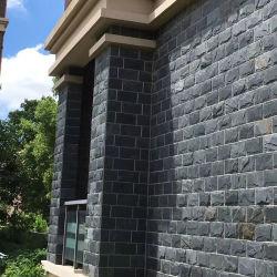 Черный гриб сланца плитки камня стены фасад гриб Стены из камня