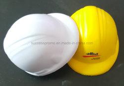 Espuma de poliuretano en forma de casco de seguridad pelota anti estrés