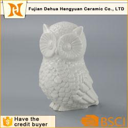 Vitrage White Owl forme Figure animale en céramique pour la décoration d'accueil