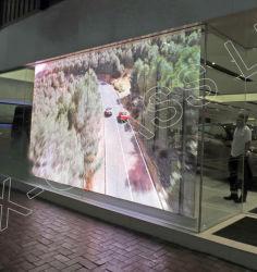 Plein écran LED en verre de couleur transparente pour l'intérieur de la fenêtre de Fabrication (P5 : P8)