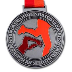 スポーツのためのカスタマイズされた金によってめっきされる金属の円形浮彫り