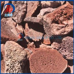 El peso de la luz natural y la contaminación no porosa piedra volcánica basáltica