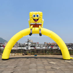 Kundenspezifischer aufblasbarer Spongebob Bogen für Bildschirmanzeige und Förderung