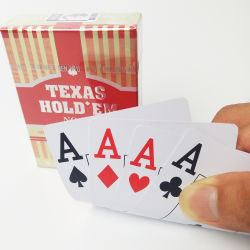 № 777 компании Texas Instruments 100% ПВХ/пластик Poker Игральные Карты