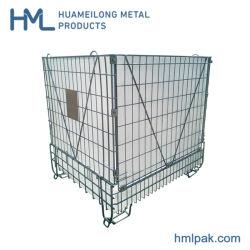 China Fabricante empilháveis colapsável personalizado de aço dobrável gaiola de paletes para tampas de plástico