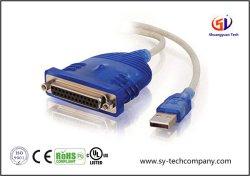 Le port USB pour imprimante parallèle dB25 Le câble adaptateur avec 6 pieds