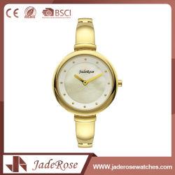 정확한 금 고전적인 여자의 석영 디지털 시계