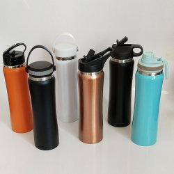 Kundenspezifischer Kolben-Edelstahl Isoliervakuumsport-Wasser-Arbeitsweg-Flasche
