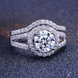 カスタム方法宝石類18Kの金のダイヤモンド結婚式の宝石類のリング
