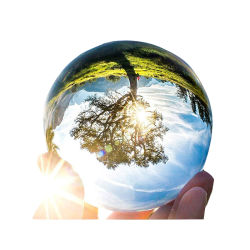 Dia 60/70/80のmm写真のホーム装飾のための水晶レンズの球の水晶装飾の自然なガラスの水晶のクラフトLensball