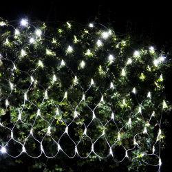 Jardin 1.5X1.5m nuit étoilée LED de couleur blanche filets de lumières de Noël