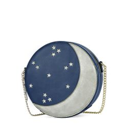 Moon Shape Girl Circle Saco com estrelas bordadas