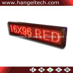 """Outdoor défilement LED programmable bannière de message board (16X96 points, 6""""X36"""", téléphone mobile en contrôlant)"""