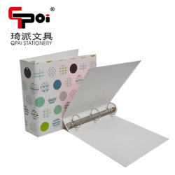 La papeterie de bureau en gros fournisseur d classeur à anneaux de type 3 au format A4 PP Document Fichier Dossier Dossier du fichier de clip à motifs