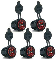 12V 3.1A два разъема автомобильного прикуривателя USB адаптера питания зарядного устройства на выходе автомобильный адаптер
