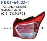 Lampe de feu de voiture Tai Hyundai Grand I10 berline bicorps 2014 (4000/92401 92402-B-B4400/924024000/92401-B-B4400)
