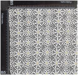 Bordados de alta qualidade White adorável Guipure Lace Tecido de poliéster