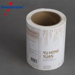 Commerce de gros logo personnalisé étiquette imprimée du ruban adhésif avec une grande étiquette standard