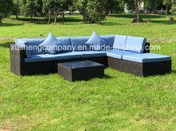 7pcs Kd de loisirs moderne Patio en rotin en osier Home Hôtel Bureau Meubles de jardin en plein air canapé