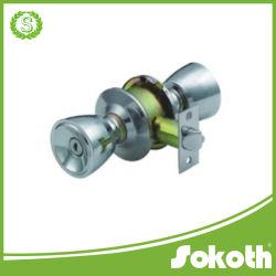 Alliage d'aluminium de marque Sokoth High-Grade le bouton Serrure de porte, cylindrique, une poignée ronde condamnation de poignée de verrouillage cylindrique