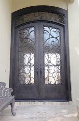 Artes e porta de entrada do ferro feito dos ofícios para a casa