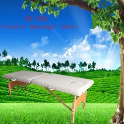 طاولة تدليك خشبية محمولة مع فتحة تنفس MT-003