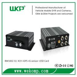 Mini Wkp H. 264 4CH CCTV GPS de coche Mobile Dvr apoyo 64GB Tarjeta SD