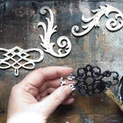 Revêtement poudré noir pour la décoration en fer forgé