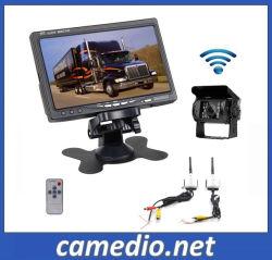 Chariot sans fil/Bus rétroviseur caméra IR + moniteur LCD TFT 7 pouces