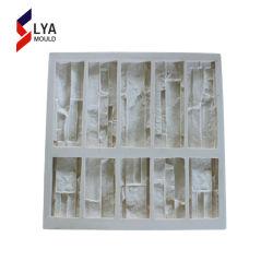 Parede flexível artificial folheado de pedra de moldes de silicone de borracha 3D