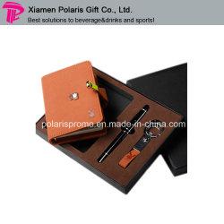 Business Notebook Set de regalo con el lápiz y Keychain