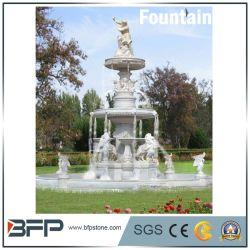 China-heißer Verkaufs-weißer Marmor/Granit-Brunnen-Wasser-Brunnen für Hinterhof