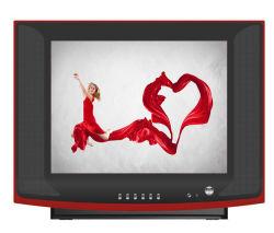 17インチの純粋なフラットスクリーンCRTのテレビカラーCRT TV