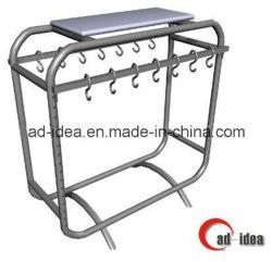 Expositor de prendas de vestir de metal/mostrando Rack/Soporte de suelo (MD-027)