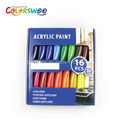 Tinta de cor de acrílico não tóxicos, conjunto de pintura, 36ml*16HP