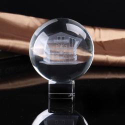 Innere Kristallkugel-Glasandenken-Geschenke Laser-3D