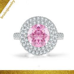 Custom Mode bijoux de luxe 14K 18K 9K or Bijoux de noces de diamant 925 anneau argenté