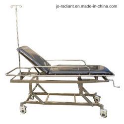 病院の家具のステンレス鋼の忍耐強い高さの調節可能な伸張器のトロリー