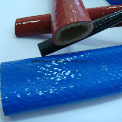 耐火性の袖のガラス繊維のブレードの上塗を施してあるシリコーンゴム