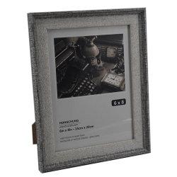 Collage con strisce dorate cornice fotografica 5X7 pollici - Made to Display Immagini 4X6 pollici con Mat o 5X7 senza Mat - Materiale di montaggio a parete incluso