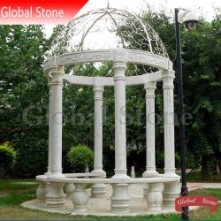 정원 Decoration (GSGZ-118)를 위한 대리석 Gazebo Stone Gazebo