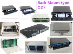 1u 2u 3u 19インチSc LC Stのアダプターまたはピグテールの光ファイバラックマウントのしょう動パッチPanel/ODF/Cabinet