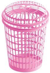 55L accueil de base entravent la lessive en plastique avec couvercle